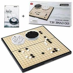 11 Inches Magnetic Go Game Set Foldable Board Game Set  Magn