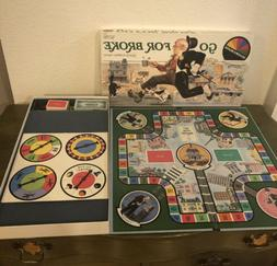 1985 Selchow & Righter GO FOR BROKE Board Game Pre Owned ALL