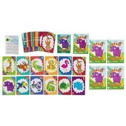 4-Pack Go Fish Card Game Matching Game for Kid, Safari Anima