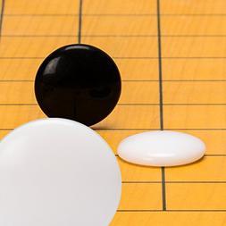 Melamine Single Convex Go Stones, 21.5 to 22 Millimeters