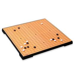 Baduk Game Foldable Magnetic Go Board Game Set for Travel By