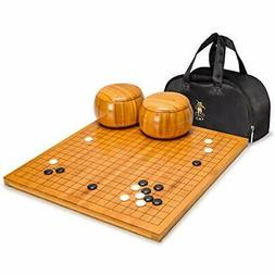Bamboo 0.8-Inch Reversible 19 13 Go Game Chess Set Board Bam