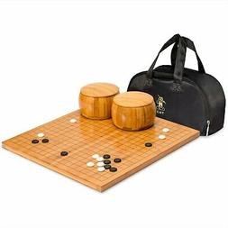 Yellow Mountain Imports Go Game Set with Bamboo Go Board , S