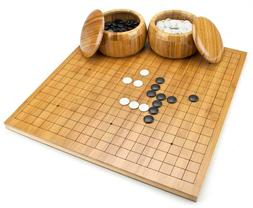 bamboo go game set with reversible board