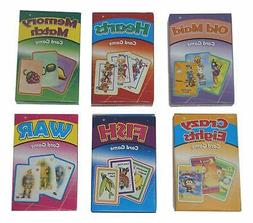Kids Classic Card Games Bundle - Includes One of Each