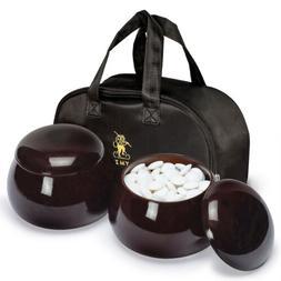 Double Convex Melamine Go Game Stones Set with Jujube Bowls