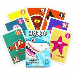 GlobalDream Go Fish Card Game for Kids - Go Fish and Old Mai