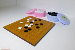 GO BOARD GAME, 9 X 9 STUDY SIZE BOARD WITH FULL SET & 19 X 1