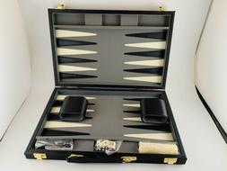 Go! Games 15 Inch Deluxe Backgammon Attache Set New Black Se