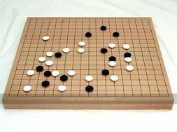 Go Masters Intermediate Go Set - 19 x 19 Wooden Board, Glass
