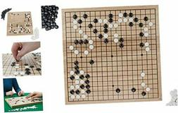Go Set with Natural Wood Board | Portable 29 x 29cm  Set |