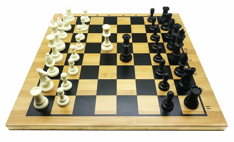 Full Chess Bamboo Board, Stones