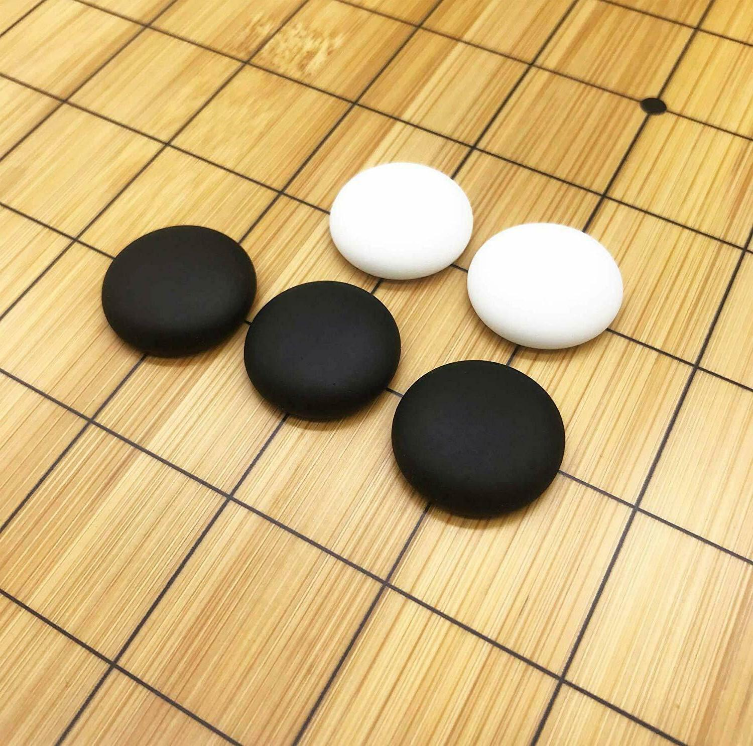 Full Size 2in1 Chess Game Set Bamboo Stones