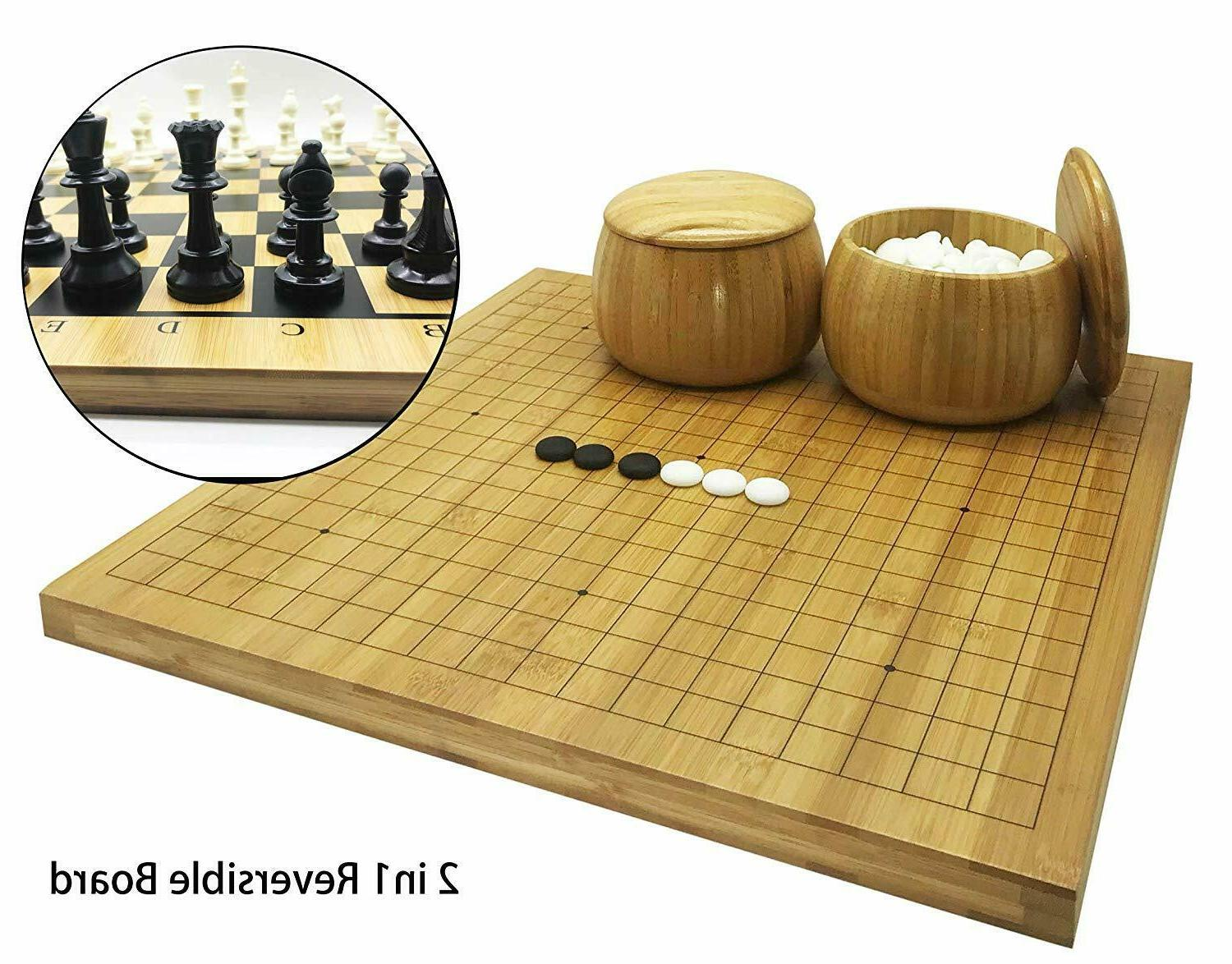 full size 2in1 go chess game set