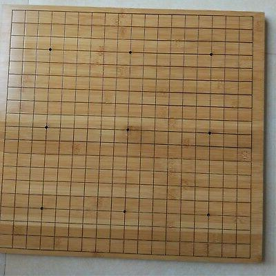 Go Set - 19x19 Reversible Board, Biconvex Yunzi Stones, Bamb