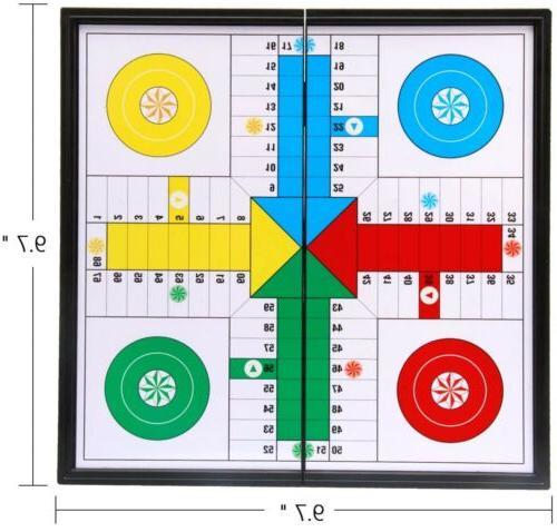 Ludo Go Board Folding Travel Parcheesi Board Game Shipp