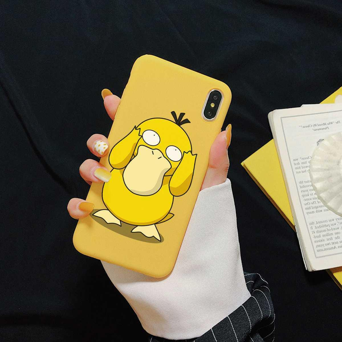 pokemon go psyduck game tpu phone cover