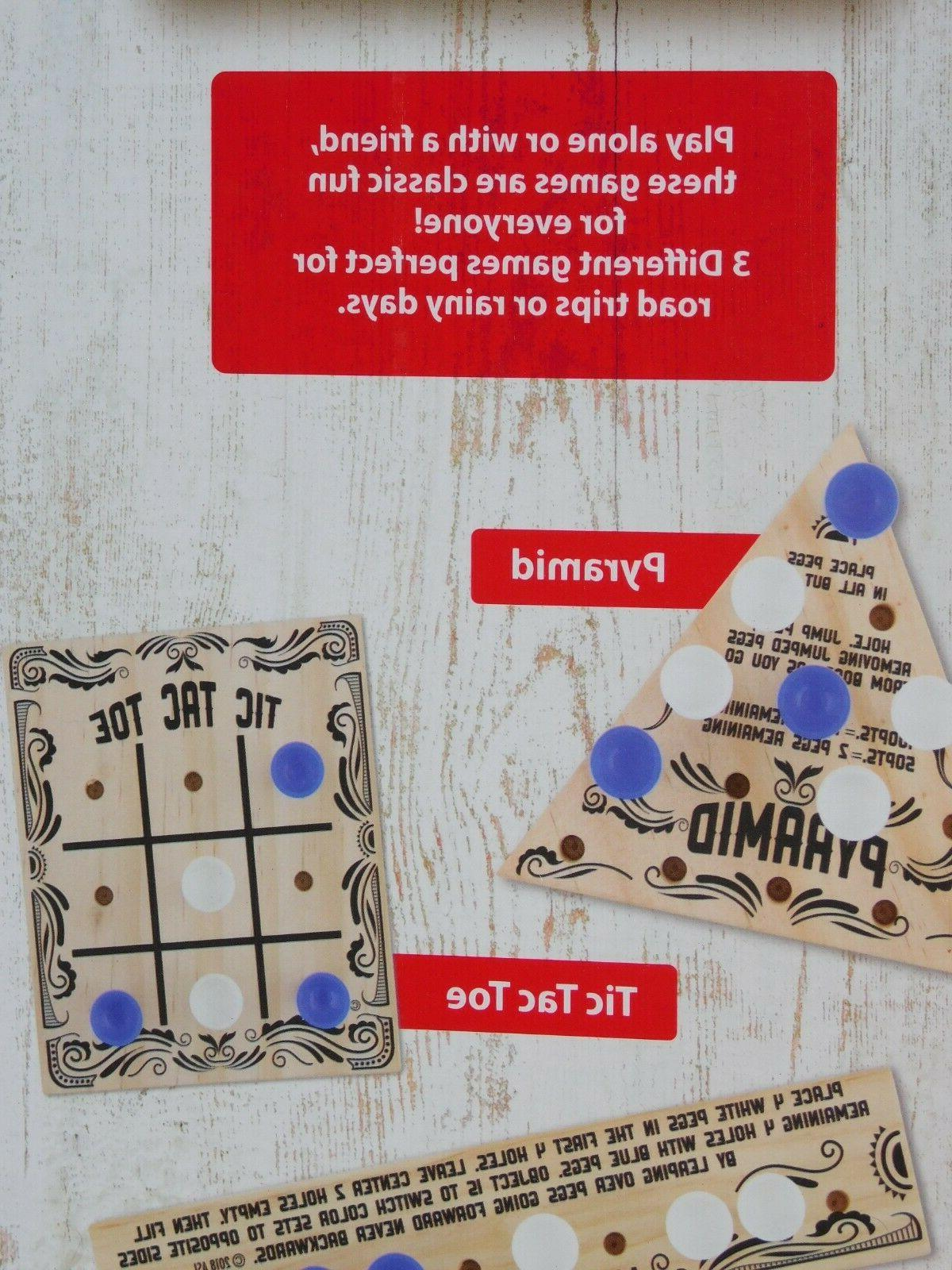 Wooden Puzzles Travel Game Activity the Tac