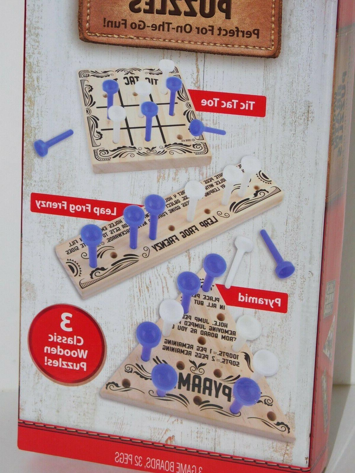 Wooden Travel Activity Present On the Tic Tac
