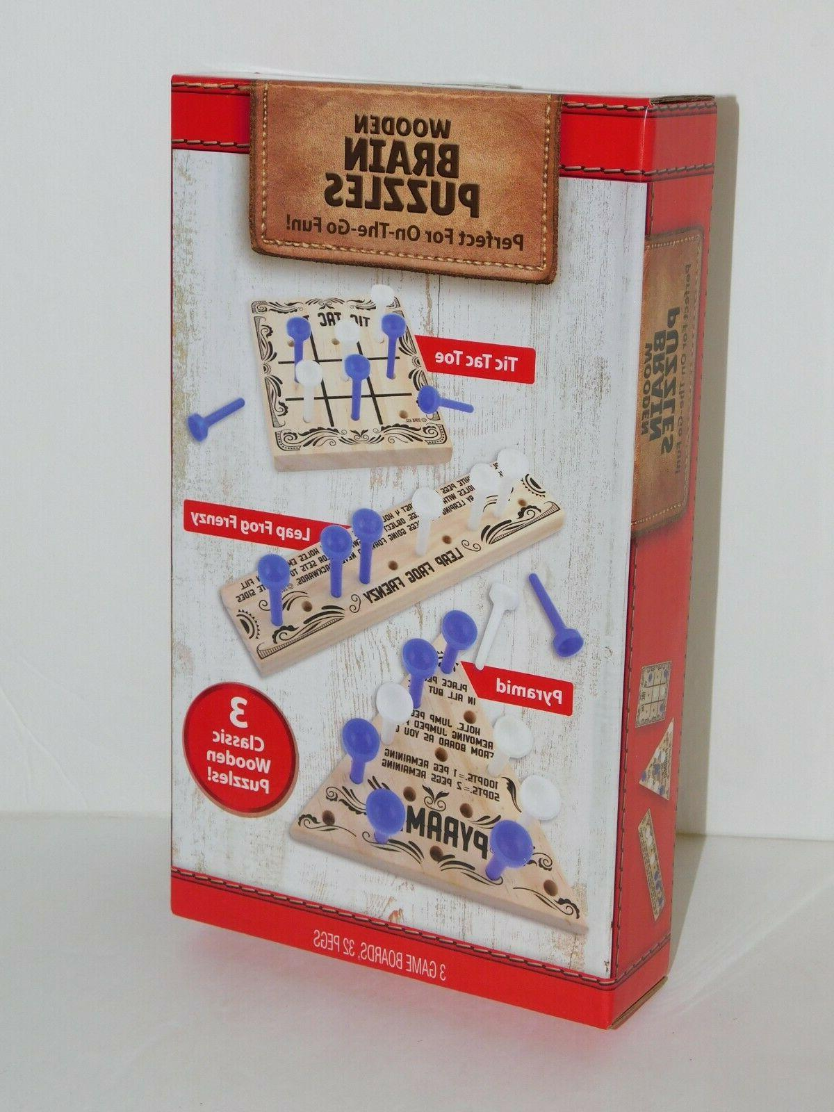 wooden puzzles travel game activity gift present