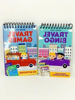 Lot of 2 On-the-Go Travel Games 20 Puzzles & Activities, Spi