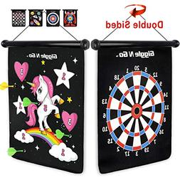 GIGGLE N GO Magnetic Dart Board Game - Our Reversible Rollup