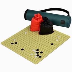 Magnetic Go Board w/ Single Convex Magnetic Plastic Stones G