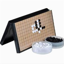 Magnetic Travel Go Game Set Magnetic Plastic Stones X-Large
