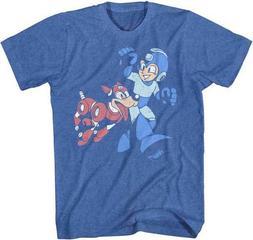 Mega Man Let's Go Capcom Video Game Adult T Shirt