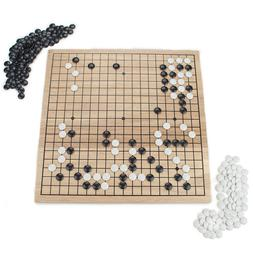NEW - Game of GO Set with Wooden Board and Complete Set of S