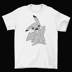 Pokemon Go Pikachu T-Shirt Unisex Cotton Nintendo Spiral Vid