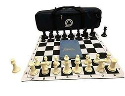 Qualid Tournament Chess Set- for On The Go Tournament Play,