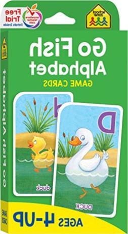 School Zone Staff-Go Fish Alphabet Game Cards BOOK NEW