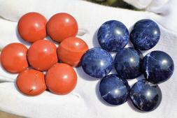 SP-4 - RED JASPER and BRAZILIAN BLUE Go stones - Go game, Ba