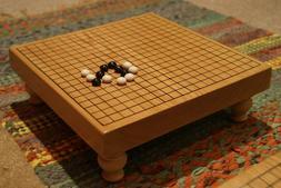 Unique Go Table Miniature Wooden Board and Pieces Set *Pedes