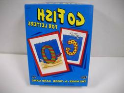 Vintage Go Fish For Letters Laminated Make A Word Card Game